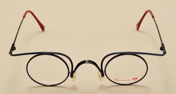 Casanova C02 round shape / light metal frame / rare model / NOS / Made in Italy / exclusive design / craftsmanship / Vintage eyeglasses