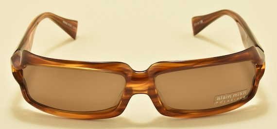 Alain Mikli A0488 12 squared shape / amazing acetate frame / NOS / Polarized lenses / Hand made in France / Vintage sunglasses