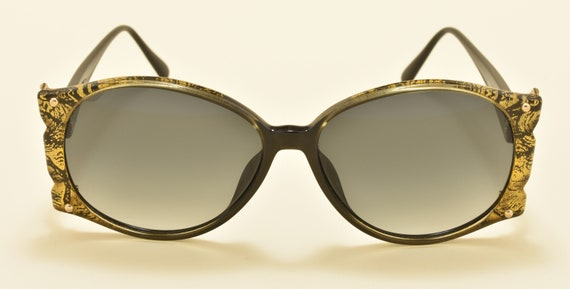 Christian Dior 2575 90 classic shape / optyl frame / 80s / NOS / golden details side / really chic / Made in Germany / Vintage sunglasses