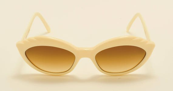Robert La Roche mod. 315 cat eye shape / white acetate frame / 80s / NOS / Made in Austria / Vintage sunglasses