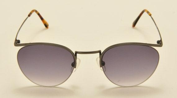 Romeo Gigli RG 17 TOUAREG (matt gun) semi-rimless / touareg model / Made in Italy / NOS / 90s / blue gradient lenses / Vintage sunglasses