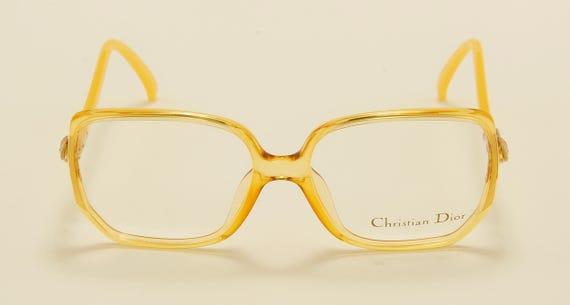 Christian Dior 2420 squared shape / golden optyl frame / 80s model / NOS / Made in Germany / Vintage eyeglasses