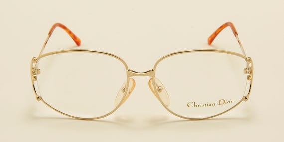 Christian Dior 2807 classic shape / golden frame / elegant taste / fine details / 80s model / NOS / Made in Austria / Vintage eyeglasses
