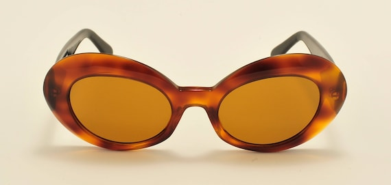 Robert La Roche mod. S 133 cat eye shape / bicolored acetate frame / 80s / NOS / Made in Austria / Vintage sunglasses