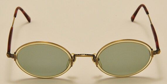 MATSUDA 2834NT oval shape / light metal acetate frame / elegant taste / Made in Japan / fine details / NOS / handmade / Vintage sunglasses