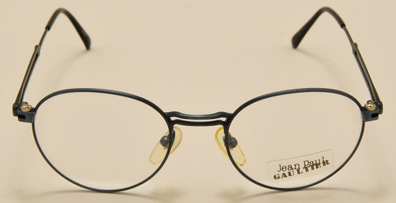 Jean Paul Gaultier 55-4176 oval shape / light metal frame / linear design / fine details / NOS / 90s / Made in Japan / Vintage eyeglasses