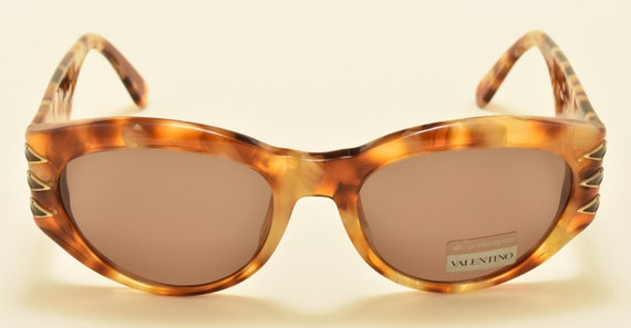 Valentino V640 classic shape / acetate tortoise frame / NOS / 90s / Made in Italy / golden details / fantastic shades / Vintage sunglasses