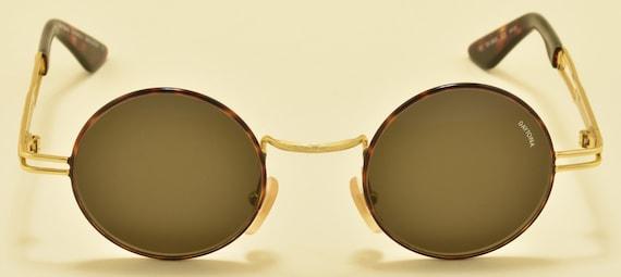 DAYTONA by Safilo 898/S round shape / golden  frame / 90s / NOS / original lenses / tortoise details / Vintage sunglasses