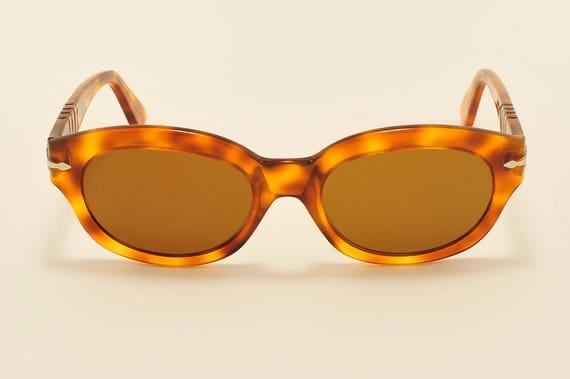 PERSOL 830 Ornella Muti cat eye shape / light havana frame / 80s / NOS / Made in Italy / original Persol crystal lenses / Vintage sunglasses