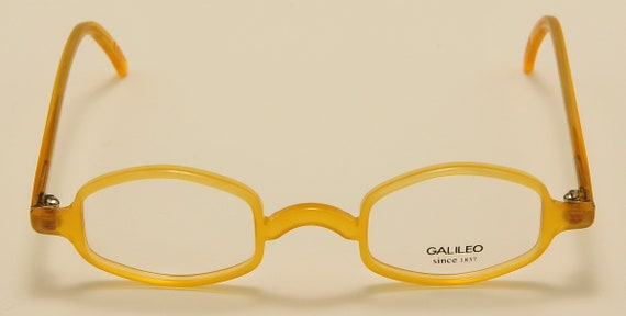 "Galileo ""Archivio C4"" oval shape / acetate frame / nice honey color / cool taste / NOS / Made in Italy / Vintage eyeglasses"