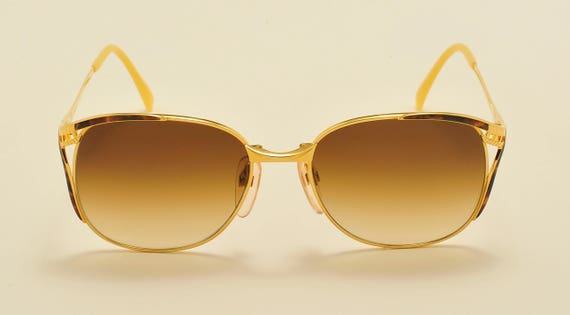 GRES mod. 410 Madame classic shape / golden frame / fine details / elegant taste / 80s / NOS / Made in France / Vintage sunglasses