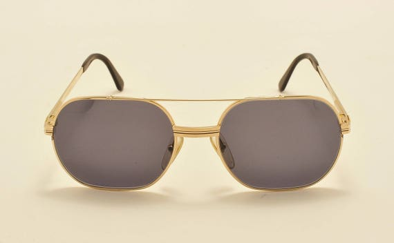 Christian Dior Monsieur 2357 squared shape / golden frame / design details / 80s / NOS / Made in Austria / Vintage sunglasses