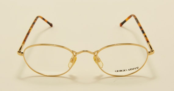 Giorgio Armani 225 oval shape / golden frame / 80s model / NOS / Made in Italy / Vintage eyeglasses