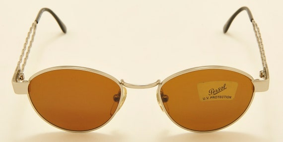 """Moschino by Persol """"MM414"""" oval shape/Made in Italy/Persol original tempered glass/NOS/90s model/Vintage sunglasses"""
