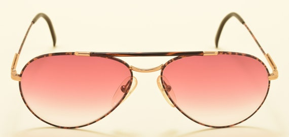 Carrera 5349 aviator classic shape / golden and metallic turtle frame / 80s / NOS / Made in Austria / pink lenses / Vintage sunglasses