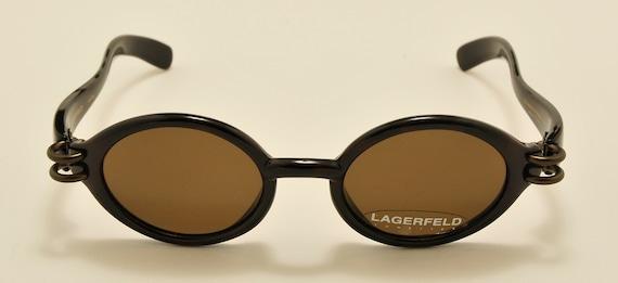 LAGERFELD 4131 20 oval shape / 90s model / NOS / Made in France / original lenses / Vintage sunglasses