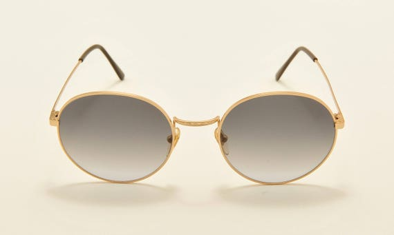Roy Tower PREPPY 49 round shape / golden frame / 80s model / NOS / Made in Italy / Vintage sunglasses