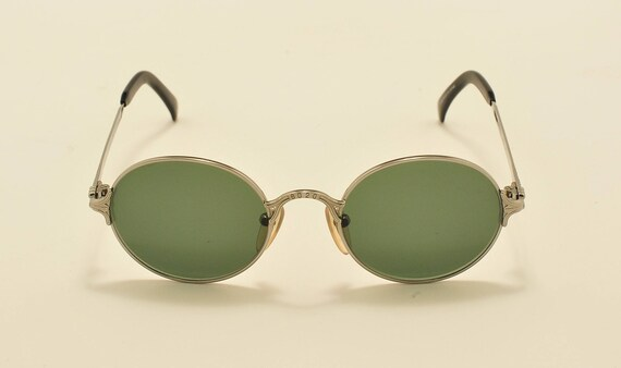 Jean Paul Gaultier 55- 4181 round shape / titanium frame / 90s / NOS / Made in Japan / new lenses / Vintage sunglasses