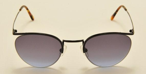 Romeo Gigli RG 17 TOUAREG (Shiny black) semi rimless / legendary touareg model / NOS / blue gradient lenses / Vintage sunglasses