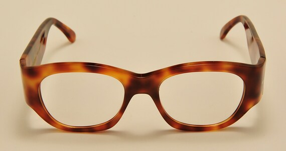 Kador 130 col.1053 squared shape / acetate tortoise / NOS / 90S / handmade in Italy / really exclusive / Vintage eyeglasses