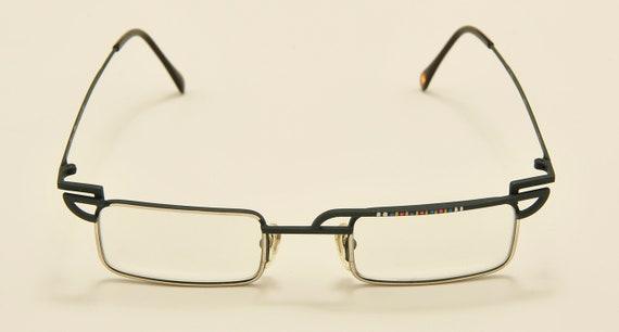 CASANOVA C-03 squared shape / metal matt green frame / photocromatic lenses / special details / Made in Italy / NOS / Vintage sunglasses