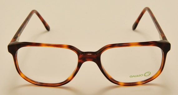 Galileo PLU-F32 squared shape / acetate frame / tortoise color / NOS / Made in Italy / Vintage eyeglasses