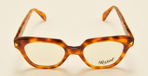 Persol Ratti mod.316 hand made frame / light havana shade frame / NOS / 18KT Gold Plating / Made in Italy / demo lenses / Vintage eyeglasses