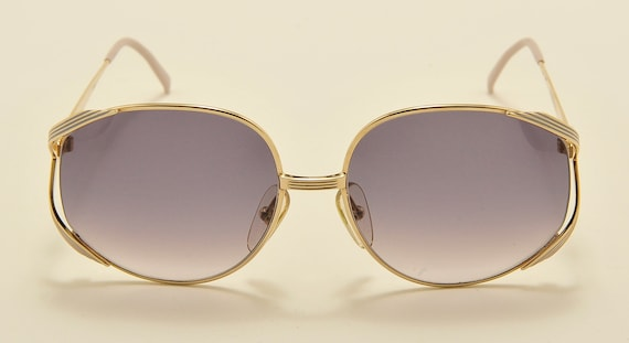 Christian Dior 2387 oversized shape / golden frame / elegant taste / Made in Austria / NOS / 80s model / new lenses / Vintage sunglasses