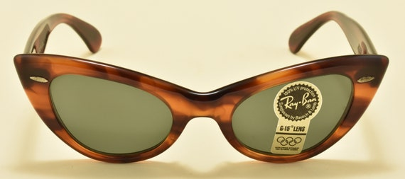 Ray Ban B&L Tortoise WO960/Cat Eye shape/90s/NOS/Olimpic Games Special Edition/Original G-15 Lenses/Vintage Sunglasses
