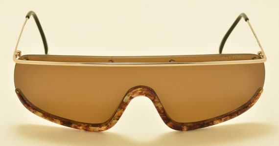 Daytona 500/S 49R by Safilo shield shape / brown lens / fantastic acetate finish / 90s / NOS / Made in Italy / Vintage sunglasses