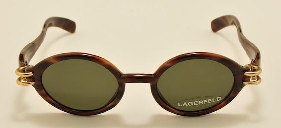 LAGERFELD 4131 40 oval shape / 90s model / NOS / Made in France / original lenses / Vintage sunglasses