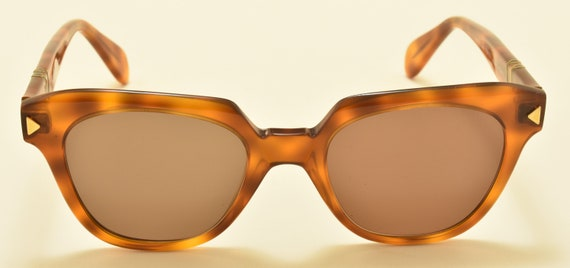 Persol Ratti mod.316 hand made frame / light havana shade frame / NOS / 18KT Gold Plating / Made in Italy / 80s / Vintage sunglasses