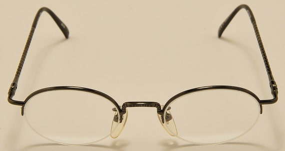 Jean Paul Gaultier 55-7104 semi rimless / fine details and design / 90s / NOS / Made in Japan / Vintage eyeglasses