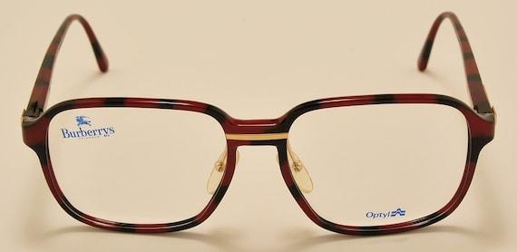 Burberrys 8278 by Safilo squared shape / optyl frame / golden details / elegant taste / NOS / 80s / Vintage eyeglasses