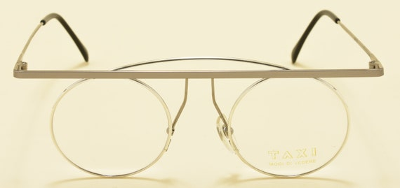 TAXI mod.205 C02 by Casanova round shape / steel frame / masterpiece design / NOS / 80s / Made in Italy / Vintage eyeglasses