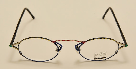 Galileo mod.032 oval shape / light metal frame / fine color details / NOS / Made in Italy / Vintage eyeglasses