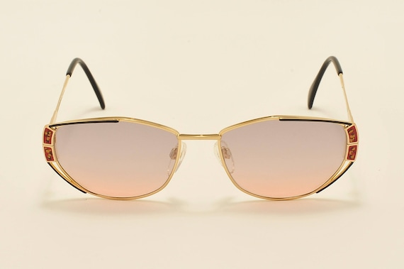 Silhouette M6210 classic shape / golden frame / fine details / 80s model / NOS / Made in Austria / Vintage sunglasses