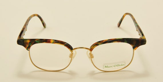 Marc O'Polo 3343 by Metzler clubmaster shape / acetate colors frame / 80s model / NOS / Made in Germany / demo lenses / Vintage eyeglasses