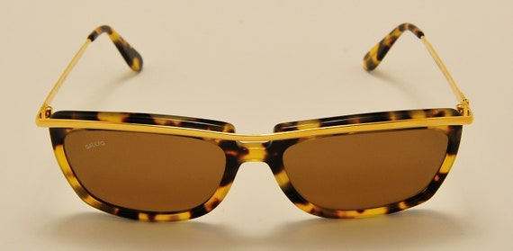 Galileo S18 easy rider shape / acetate metal frame / golden tortoise color / NOS / 90s / Made in Italy / Vintage sunglasses