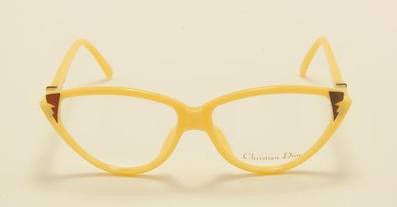 Christian Dior 2353 cat eye shape / optyl frame / cool design / 80s model / NOS / Made in Germany / Vintage eyeglasses