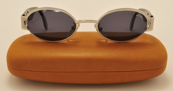 Sting mod.4308-589 oval shape / metal acetate frame / 90s / NOS / Made in Italy / original melanin lenses / Vintage sunglasses