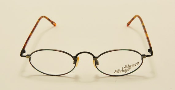 Robert Rudger 0018 oval shape / light metal frame / 80s model / NOS / Made in Austria / demo lenses / Vintage eyeglasses