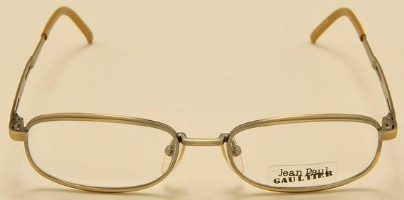 Jean Paul Gaultier 55-7113 squared shape / metal mate frame / 90s / NOS / Made in Japan / elegant taste / nice details / Vintage eyeglasses