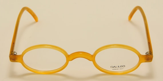 "Galileo ""Archivio PI"" oval shape / acetate frame / nice honey color / NOS / Made in italy / cool taste / Vintage eyeglasses"