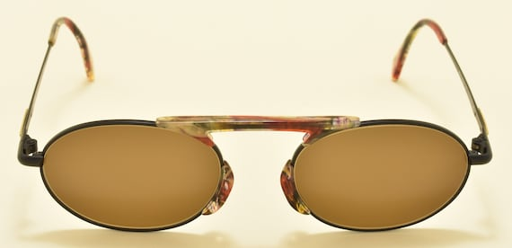 Marc'O Polo by Metzler 3316 787 oval shape / metal acetate frame / nice details / NOS / 80s / Made in Germany / Vintage sunglasses