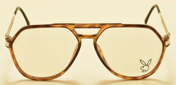 Playboy 4616 aviator shape / golden optyl frame / Made in Germany / 80s / NOS / cool model / Vintage eyeglasses