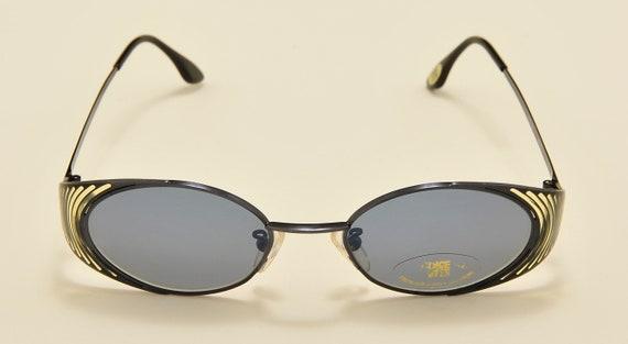 "Casanova ""Dolce Vita DVS-54"" oval shape / special sides details / Made in Italy / 80s model / NOS / original lenses / Vintage sunglasses"