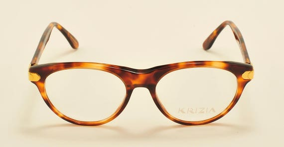 Krizia mod.K62 classic shape / tortoise frame / golden details / 80s model / NOS / demo lenses / Made in Italy / Vintage eyeglasses