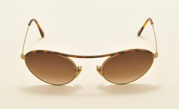 Romeo Gigli RG48 oval shape / light metal frame / 90s model / Made in Italy / Vintage sunglasses