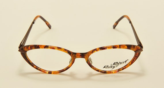 Robert Rudger 2220 cat eye shape / fantasy acetate frame / 80s model / NOS / Made in Austria / Vintage eyeglasses